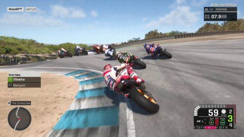 captura de pantalla de motogp 19 Marc Marquez