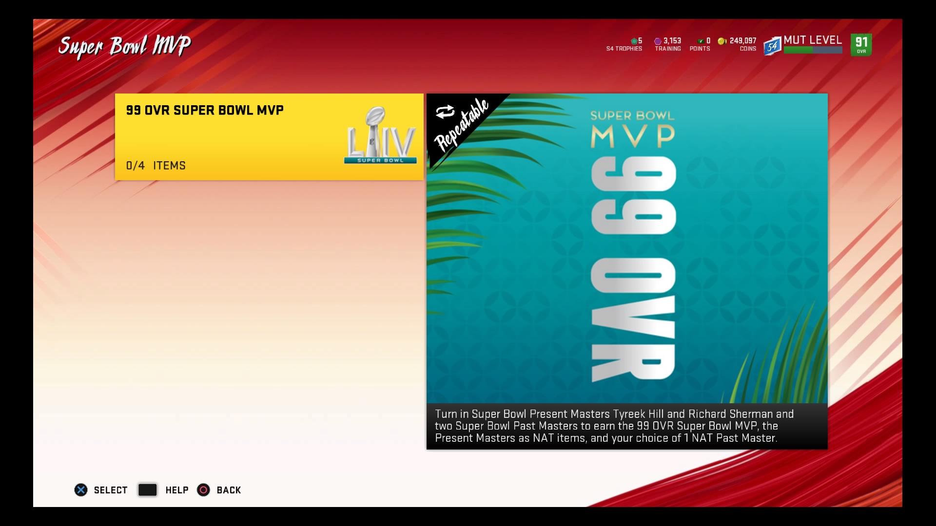 """Madden-NFL-20-ut-super-bowl-mvp """"srcset ="""" https://dlprivateserver.com/wp-content/uploads/2020/02/Madden-20-Ultimate-Team-99-OVR-MVP-Master-Patrick-Mahomes.jpg 1920w, https://realsport101.com/wp-content/uploads/2020/02/Madden-NFL-20-ut-super-bowl-mvp-300x169.jpg 300w, https://realsport101.com/wp-content /uploads/2020/02/Madden-NFL-20-ut-super-bowl-mvp-500x281.jpg 500w, https://realsport101.com/wp-content/uploads/2020/02/Madden-NFL-20- ut-super-bowl-mvp-768x432.jpg 768w, https://realsport101.com/wp-content/uploads/2020/02/Madden-NFL-20-ut-super-bowl-mvp-1536x864.jpg 1536w, https://realsport101.com/wp-content/uploads/2020/02/Madden-NFL-20-ut-super-bowl-mvp-360x203.jpg 360w, https://realsport101.com/wp-content/uploads /2020/02/Madden-NFL-20-ut-super-bowl-mvp-545x307.jpg 545w, https://realsport101.com/wp-content/uploads/2020/02/Madden-NFL-20-ut- super-bowl-mvp-1600x900.jpg 1600w """"tamaños ="""" (ancho máximo: 1920px) 100vw, 1920px """"> 99 OVR: Esta será la tarjeta con la calificación más alta en MUT 20   <p>El MVP del Super Bowl será una de las primeras 99 cartas OVR en toda la temporada de MUT, por lo que es un gran problema si puedes atraparlo.</p> <p>Afortunadamente, no tiene que significar muchas monedas, ya que ya hay un juego disponible para recogerlo.</p> <p><strong>LEER MÁS: Características que queremos en el modo de franquicia Madden 21</strong></p> <p>Para completar el set y ganar la tarjeta MVP del Super Bowl, debes intercambiar ambos Maestros Presentes del Super Bowl, Tyreek Hill y Richard Sherman, y otros dos Maestros Pasados, Steve Young o Gene Upshaw.</p> <p>Puede parecer mucho renunciar, teniendo en cuenta que el costo de los Maestros existentes está por encima de al menos 350k monedas, pero además de la tarjeta con la calificación más alta del juego, obtendrás versiones NAT de ambos Maestros Presentes y tu elección de Los Maestros Pasados.</p> <h2>MVP del Super Bowl</h2> <p> <img src="""