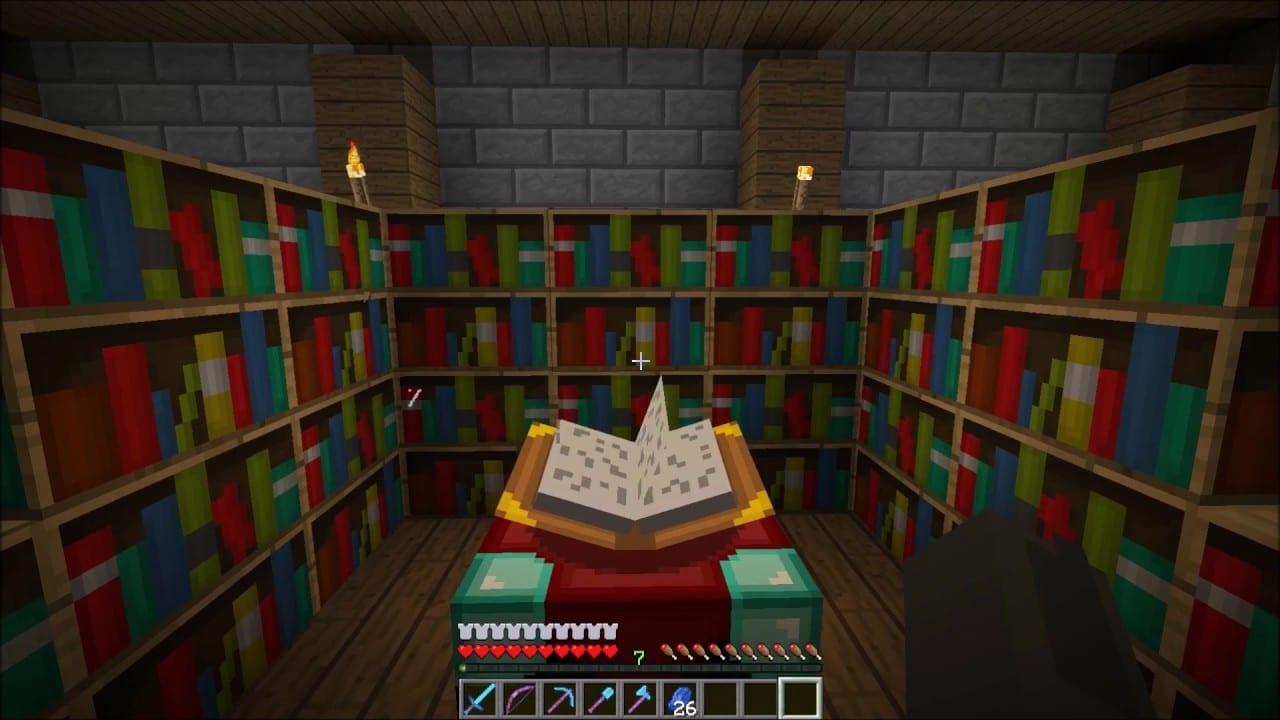 Encantamiento Riptide de Minecraft