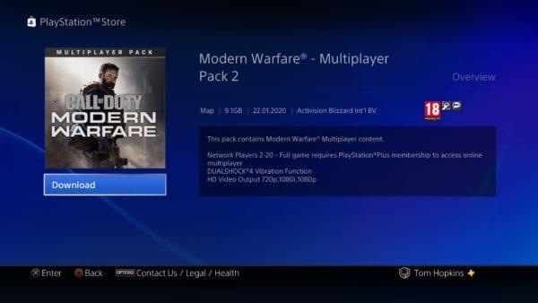 guerra moderna, paquete dlc multijugador