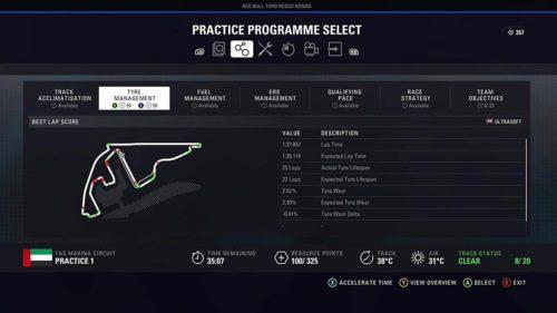 El programa de prácticas F1 2018 de Abu Dhabi