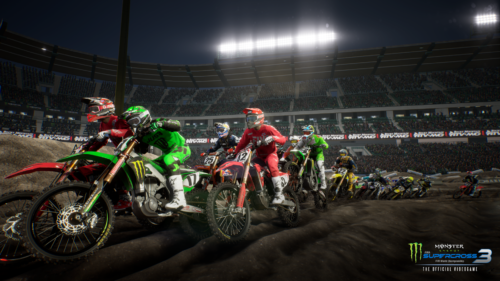 Acción de rueda a rueda en Monster Energy Supercross 3