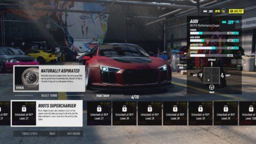 Personalizando su viaje en Need For Speed Heat