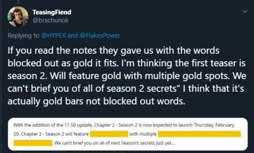 Tuit de oro de Fortnite