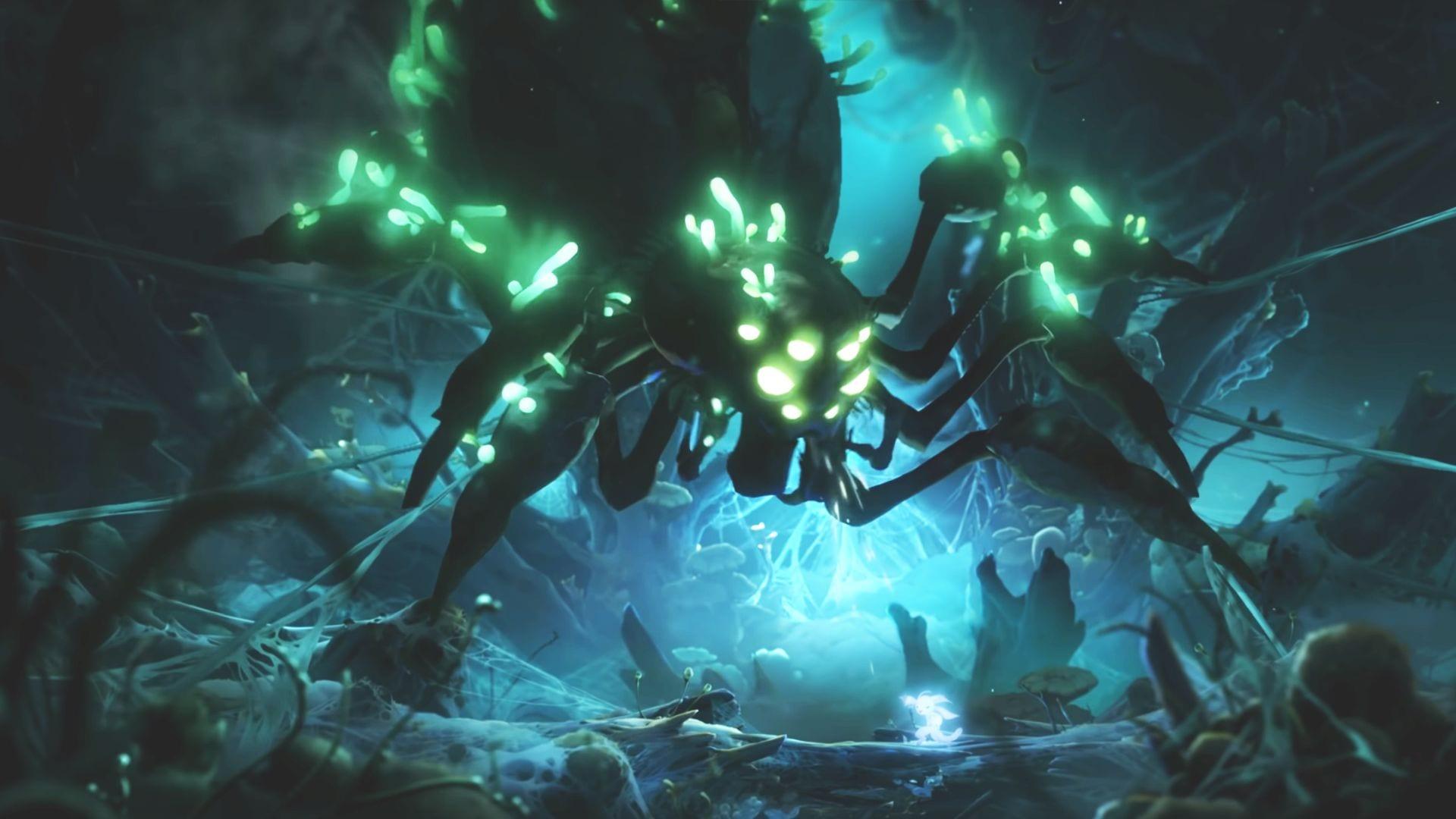 ori y la voluntad de la mecha araña jefe combate mora