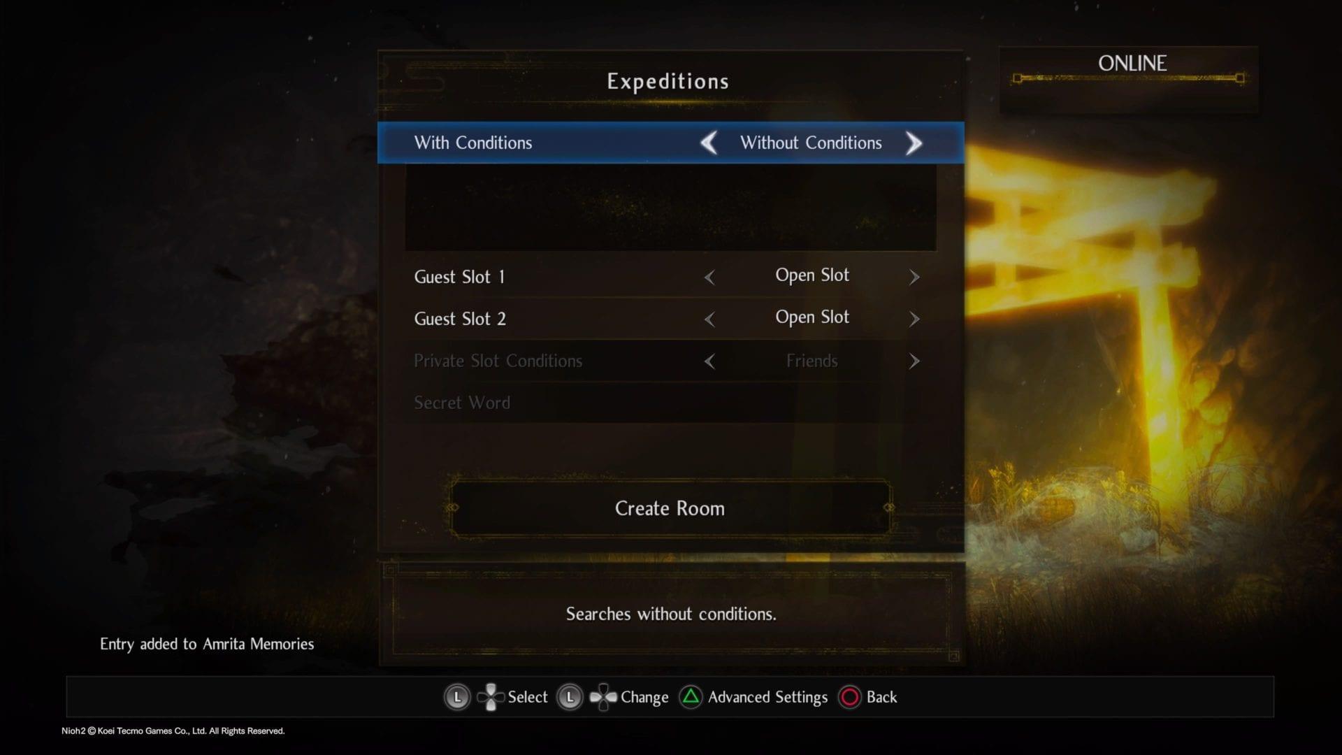 Nioh 2 cooperativo multijugador