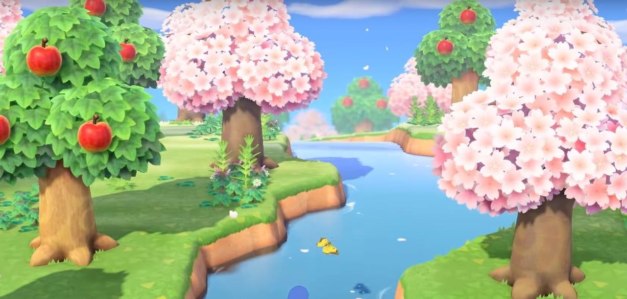 flores de cerezo en animales rosas cruzando nuevos horizontes