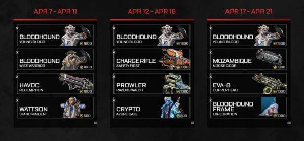 Apex Legends Duos Calendario Skins