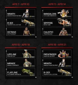 Apex Legends Duos Calendario Skins 2