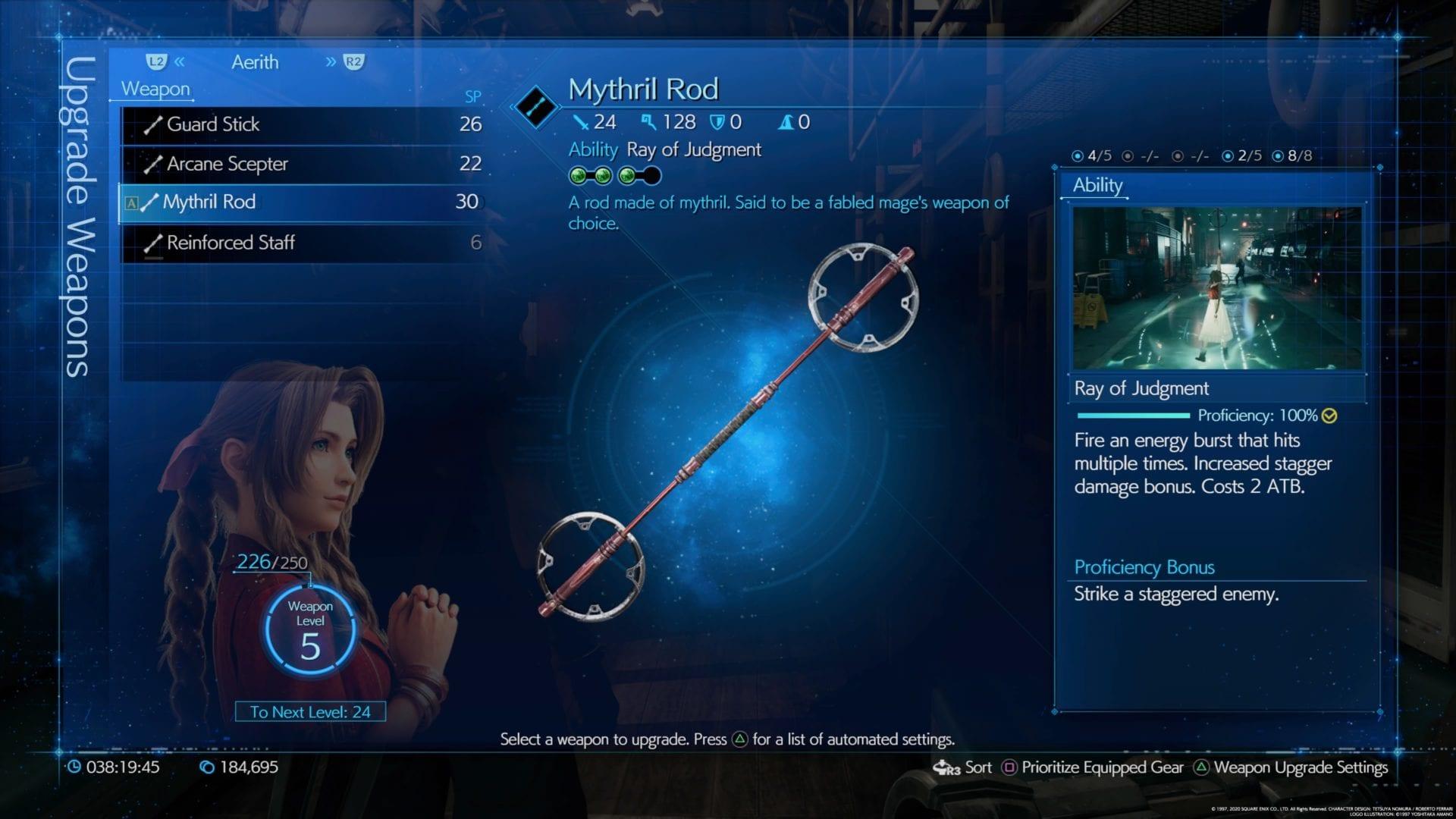 Final Fantasy 7 remake de las mejores armas
