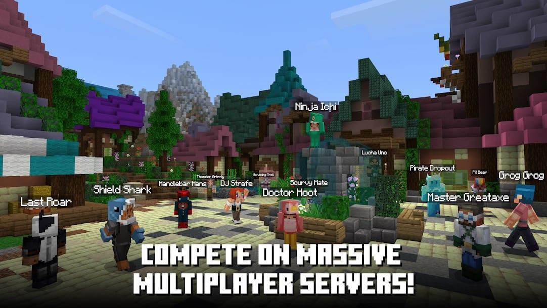 Minecraft, amigos, juegos móviles multijugador