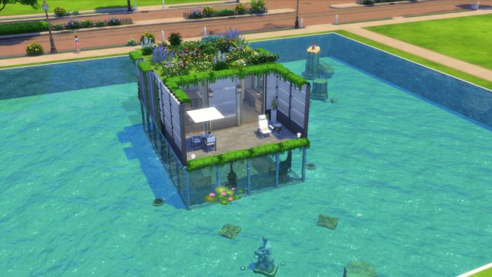 casa submarina, sims 4, ideas de la casa