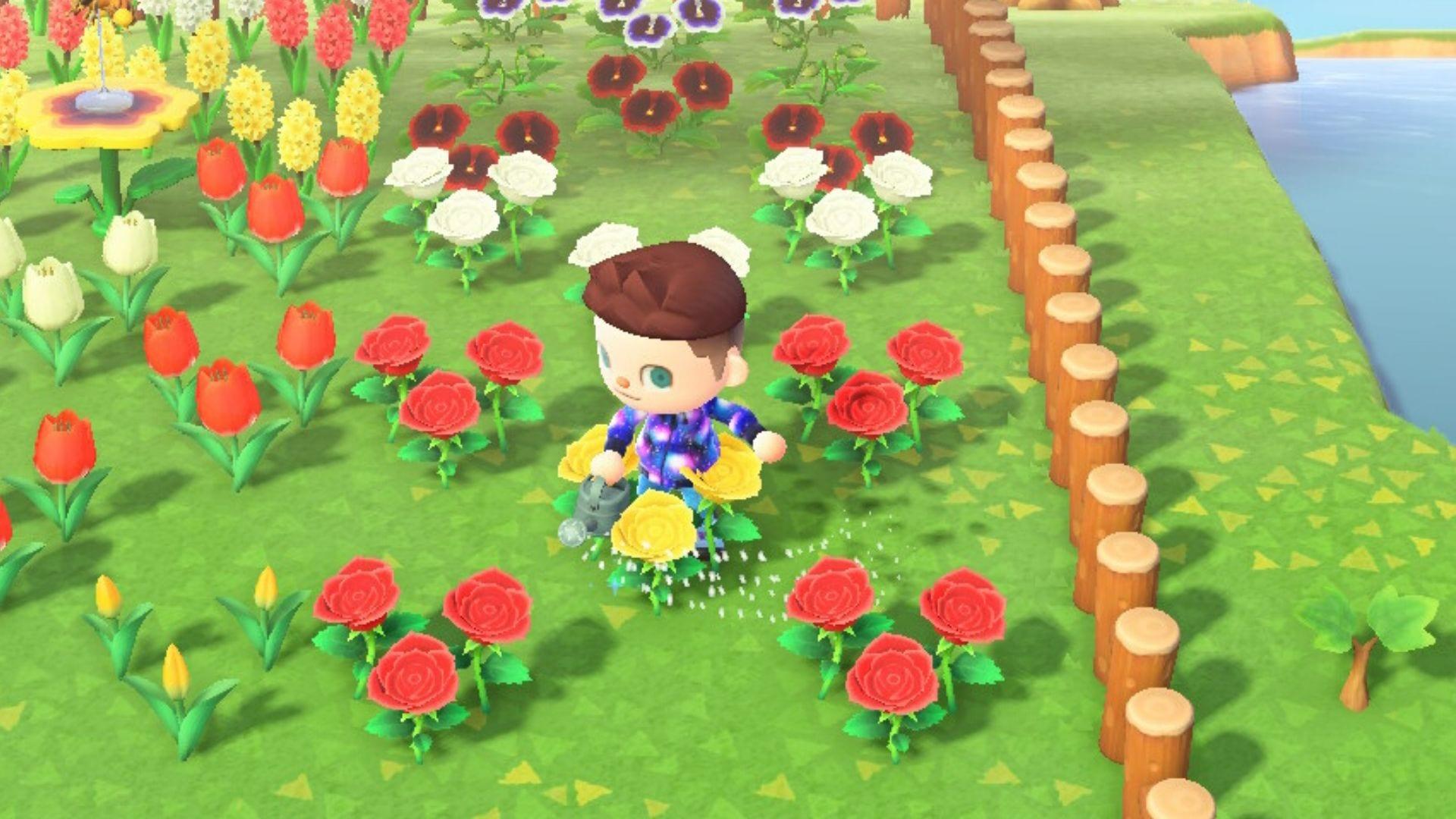 Animal Crossing New Horizons Cría de flores