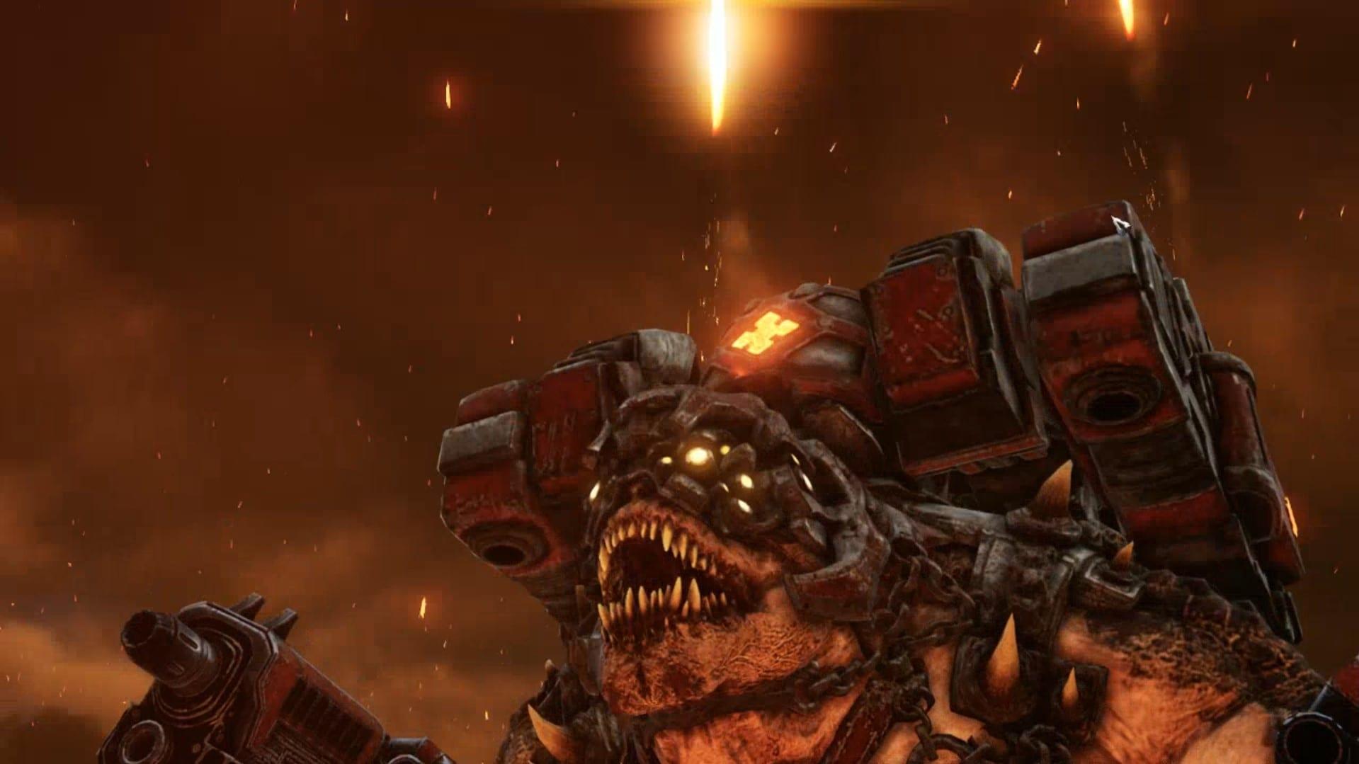 Gears Tactics Brumak boss combat
