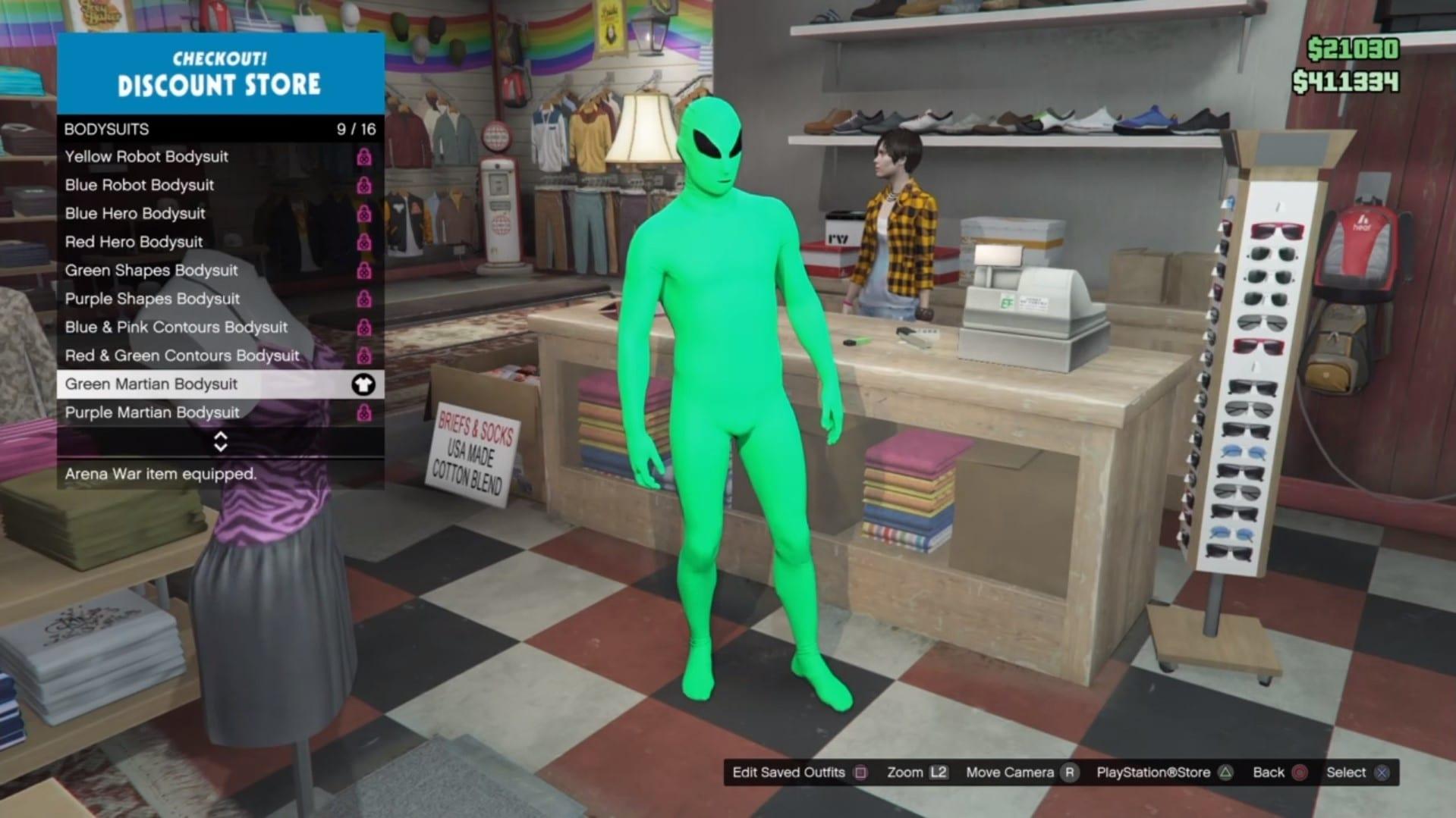 traje alienígena en línea gta