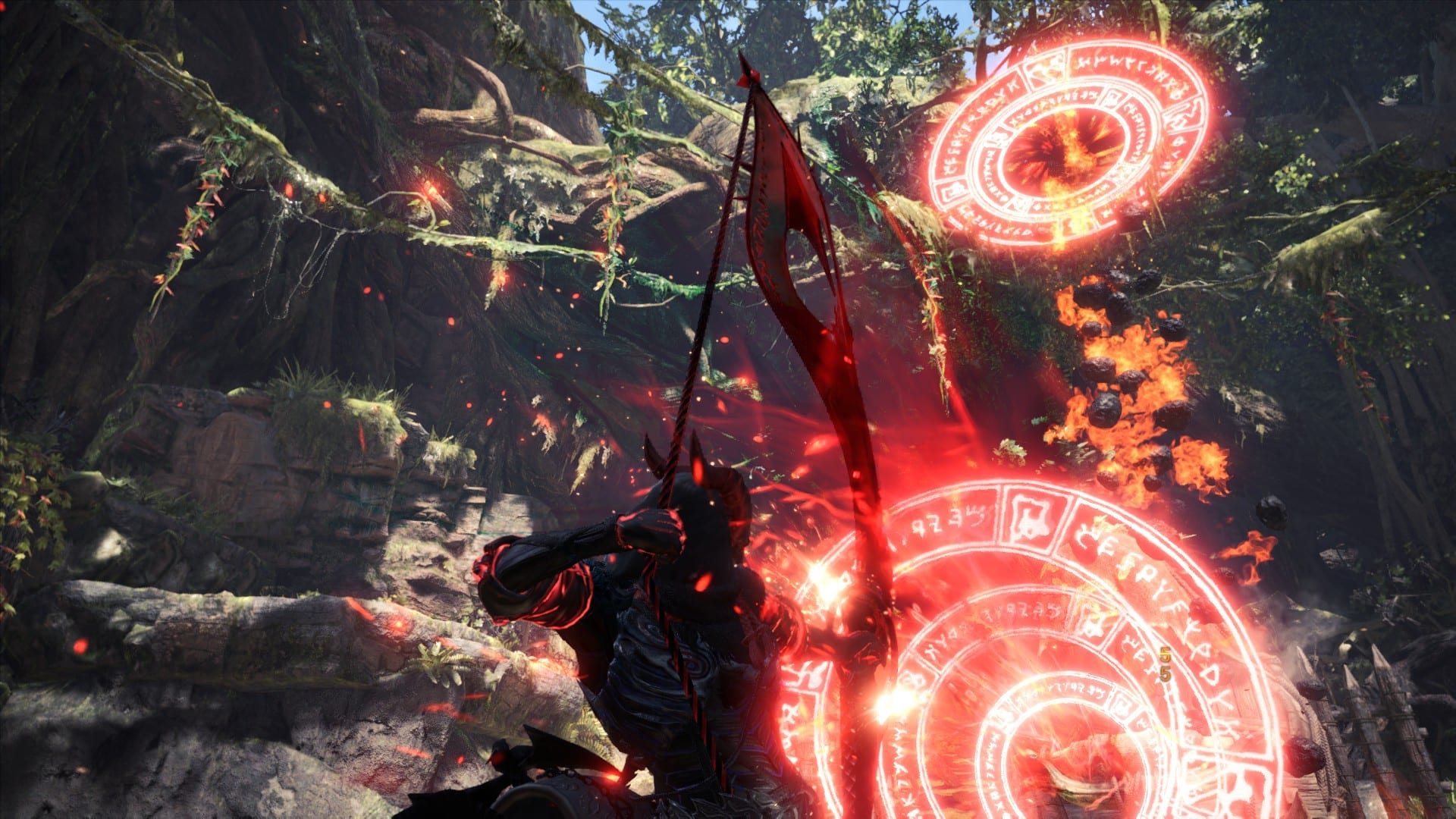 arco mágico rojo, modificaciones de monster hunter world, marzo de 2020