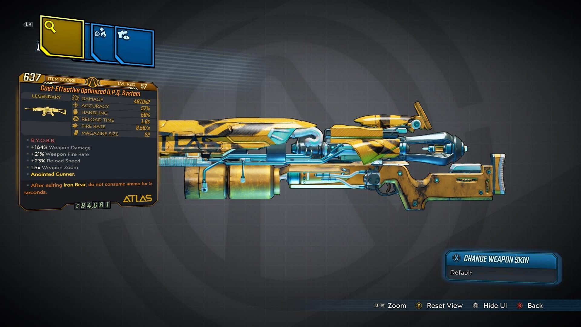 Sistema OPQ legendario rifle de asalto
