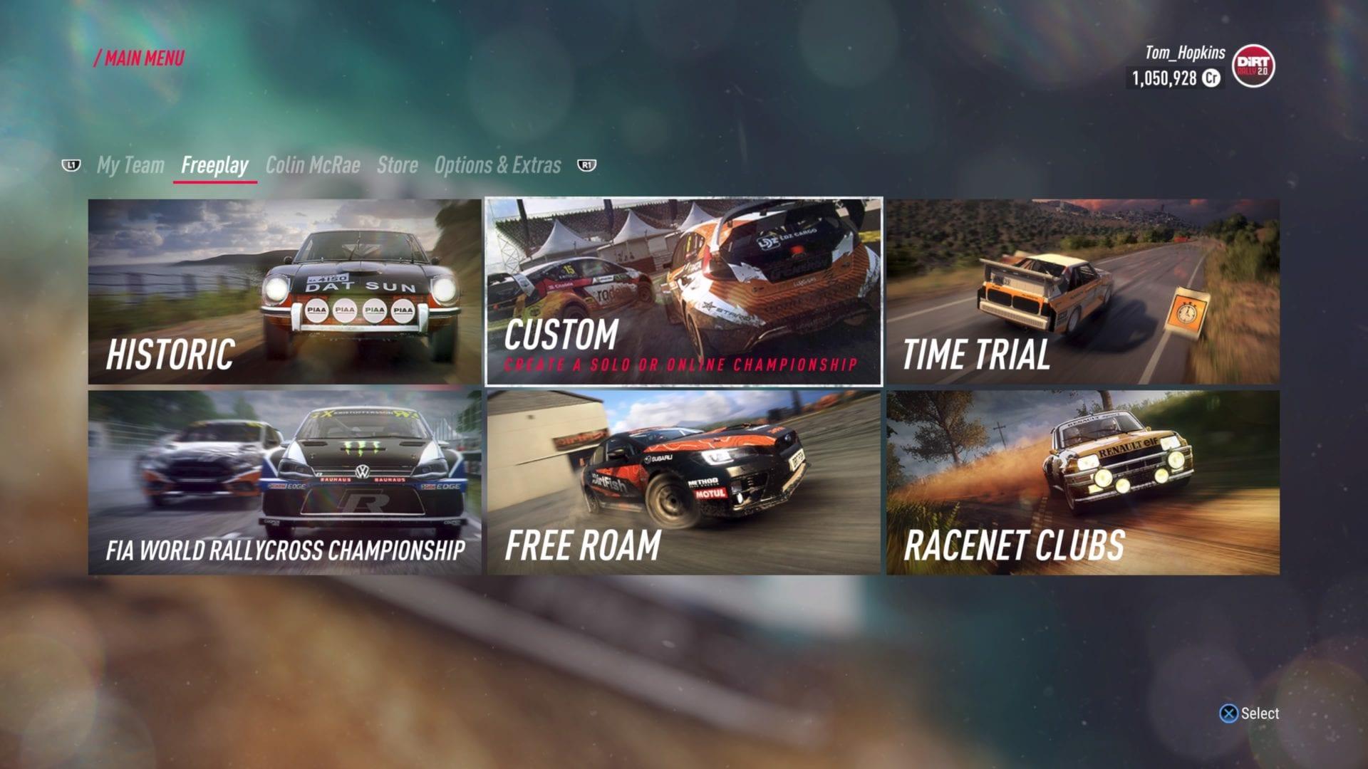 dirt rally 2.0, juega en línea con amigos