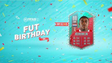 FIFA 20: se anuncia la tarjeta de cumpleaños FUT de Steven Bergwijn