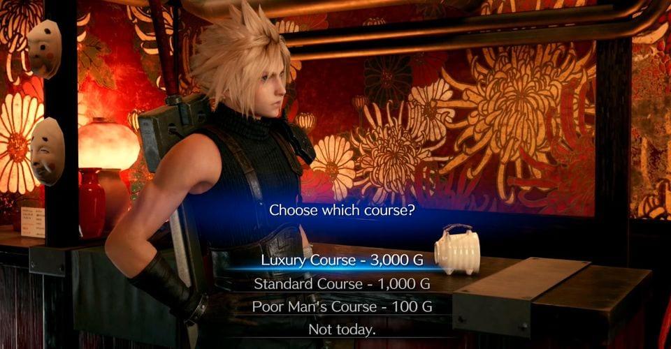 Final Fantasy 7 Remake Madam M Course