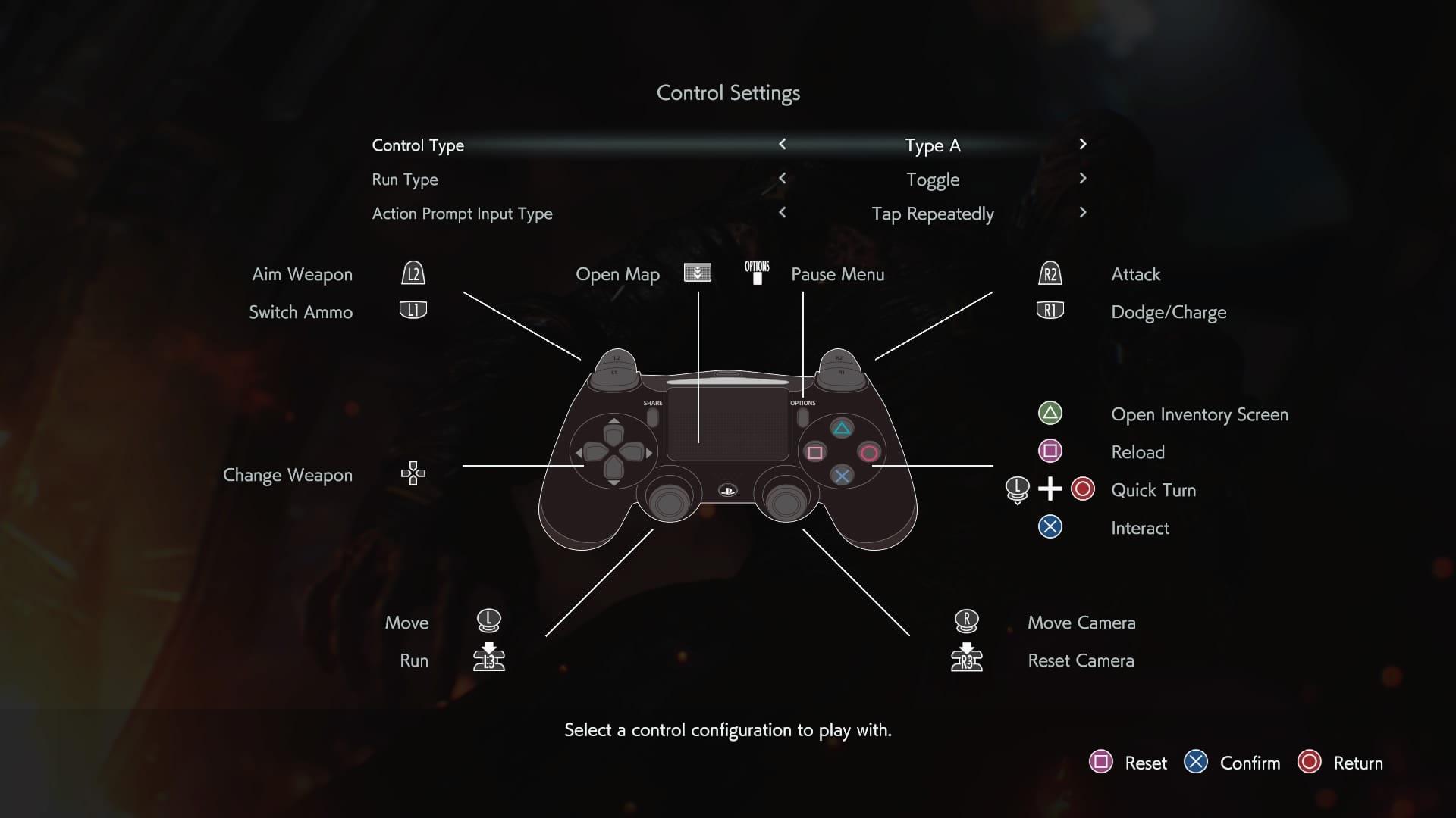 Resident Evil 3 controles