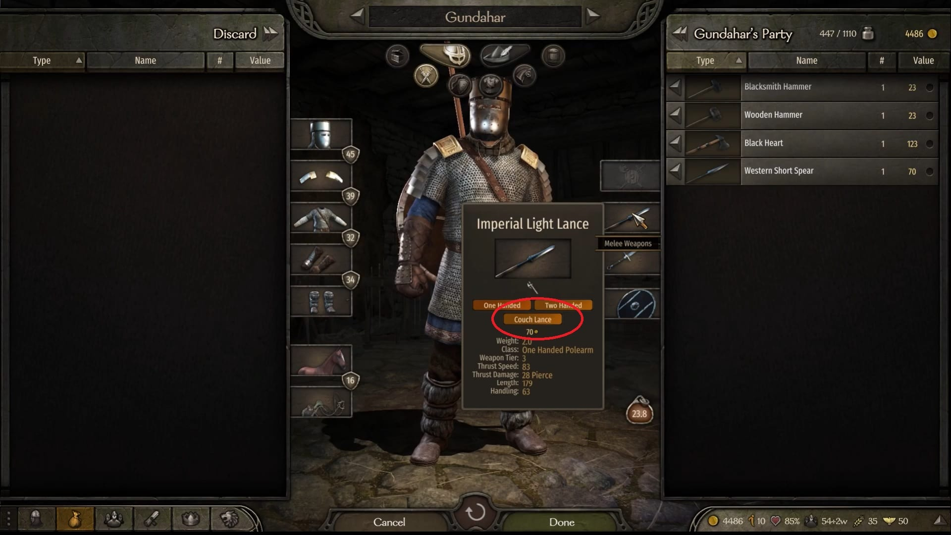 Cómo Lance Couch en Mount & Blade 2 Bannerlord