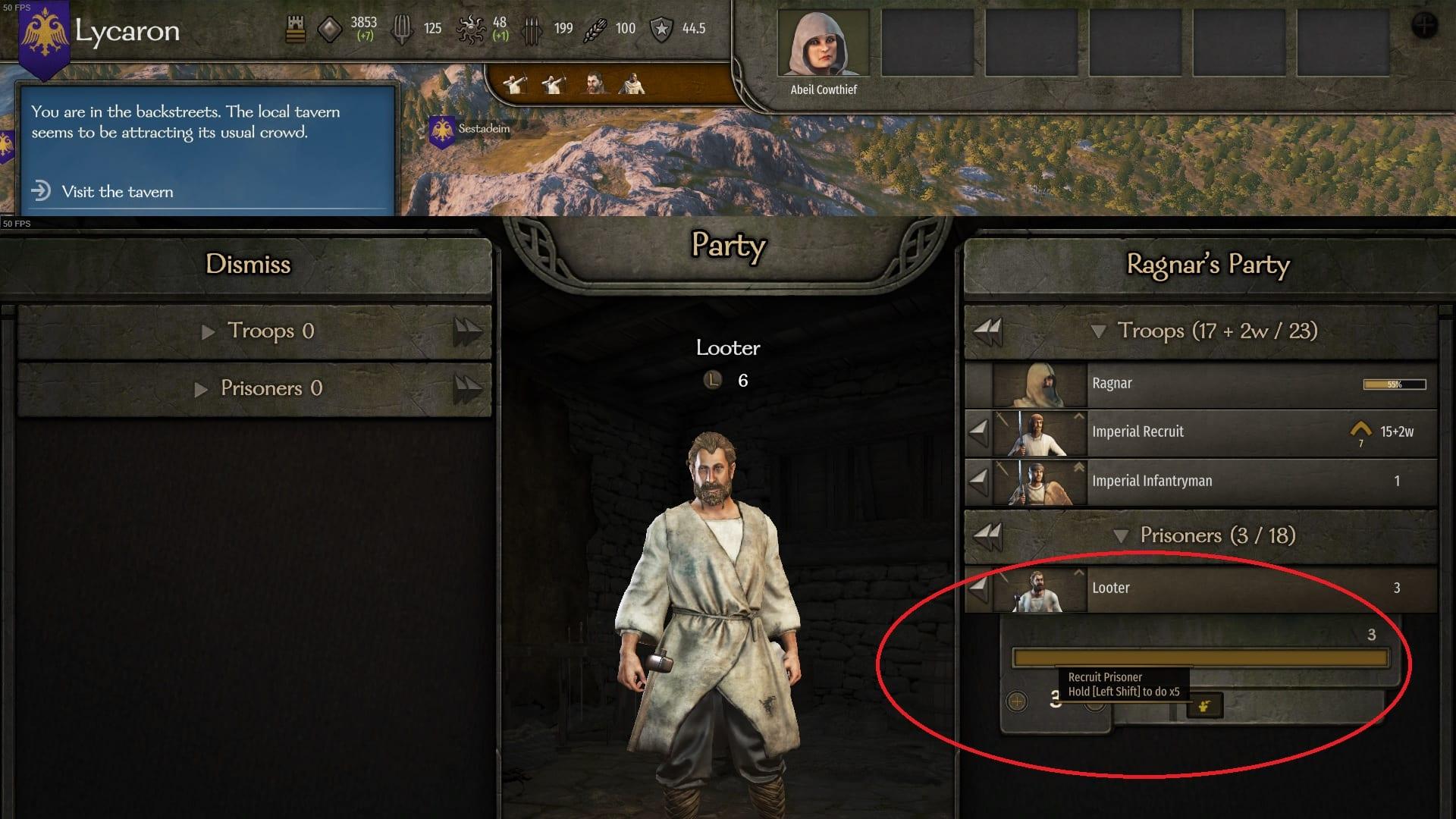 Cómo reclutar prisioneros en Mount & Blade 2 Bannerlord