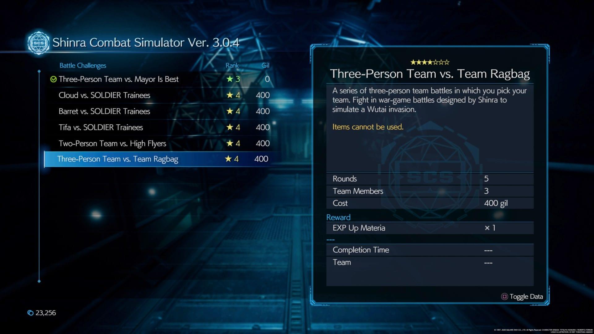 Trofeo de hazaña asombrosa, Final Fantasy VII Remake, 300 Stagger