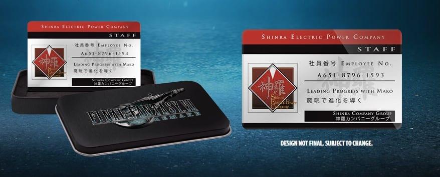 Final Fantasy 7 Remake Shinra Card Bono de pre-pedido