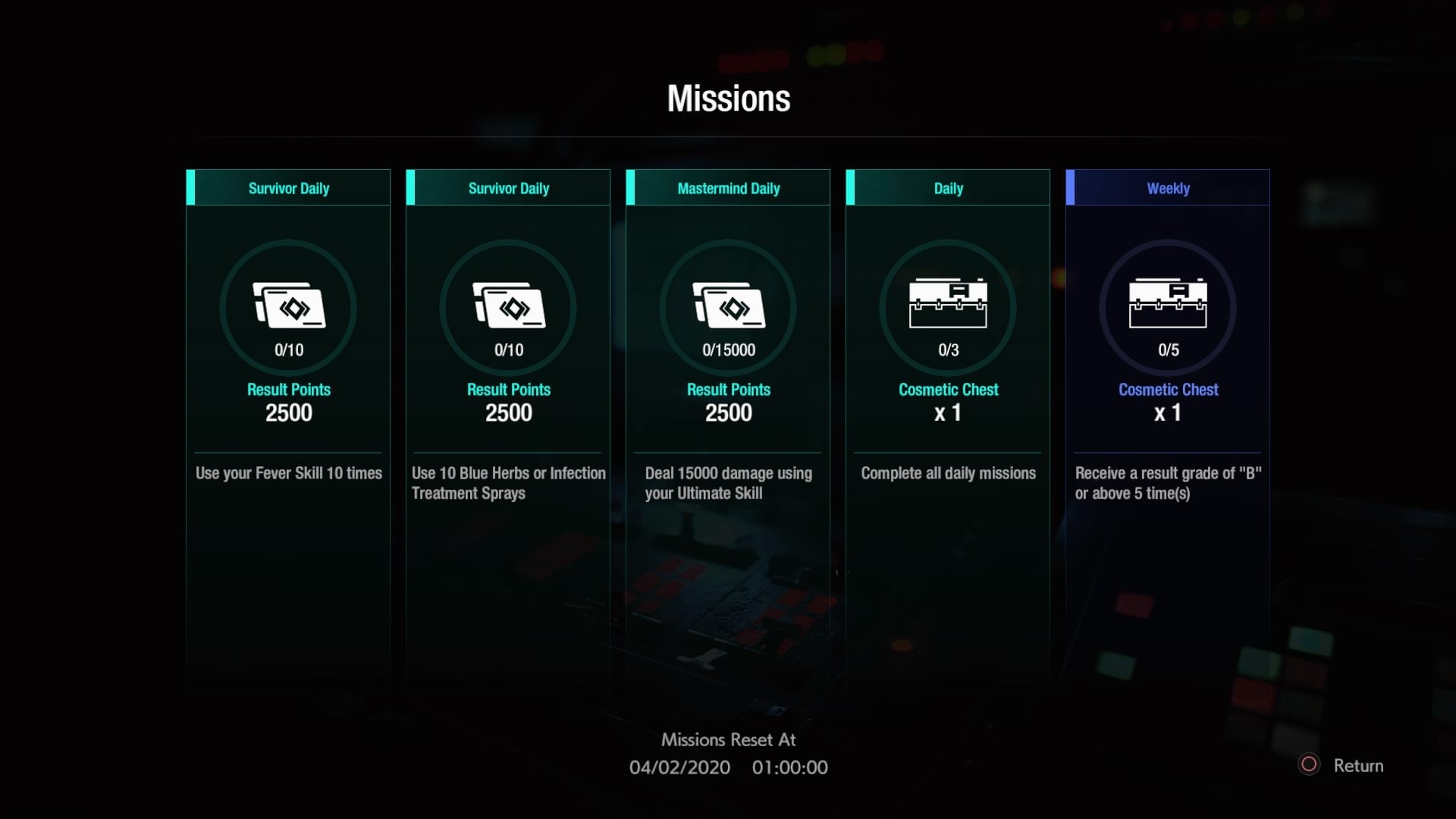 Resident Evil 3, resistencia, cartas de habilidad