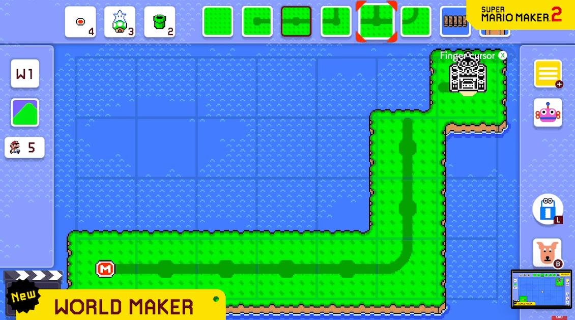 cómo crear mundos super mario maker 2