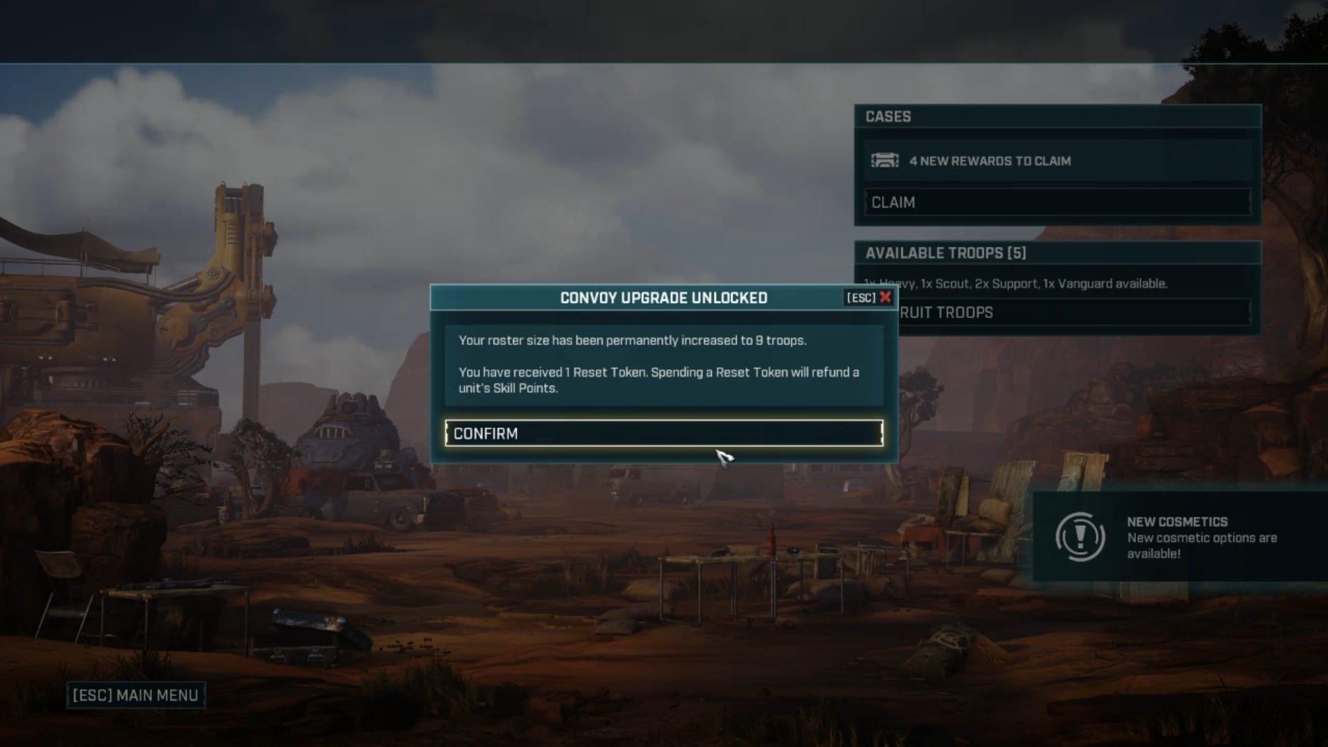 restablecer tokens en Gears Tactics