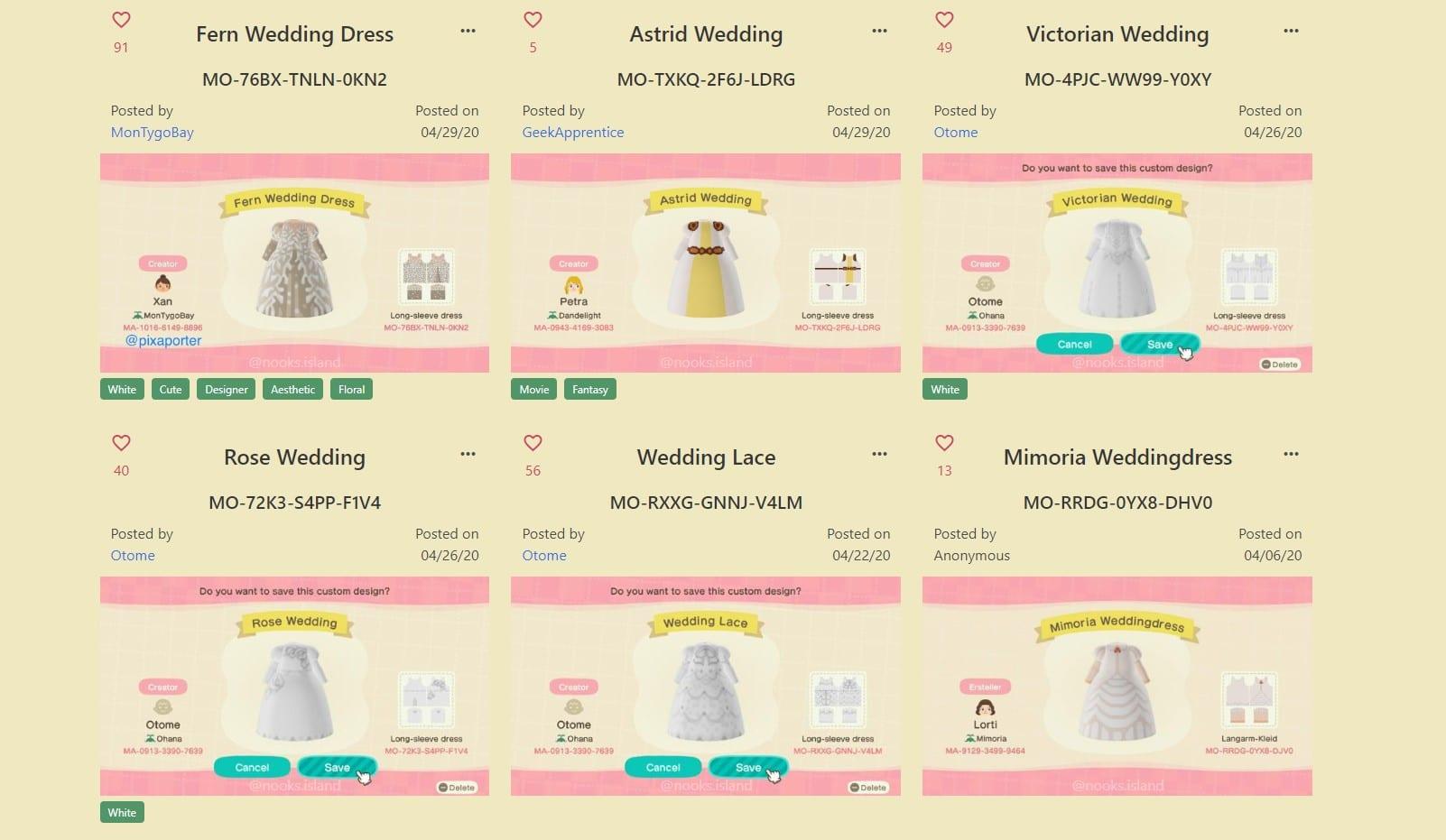 vestidos de novia de cruce de animales