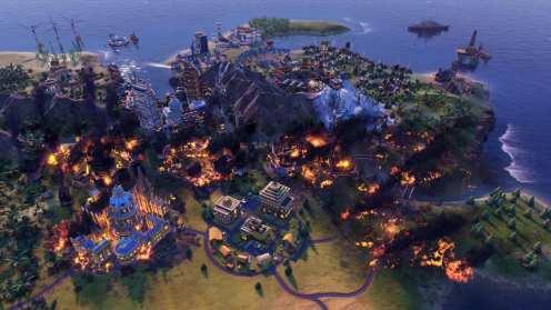 Civilization VI - New Frontier Pass - Pack Maya & Gran Colombia - Incendio forestal en modo Apocalipsis