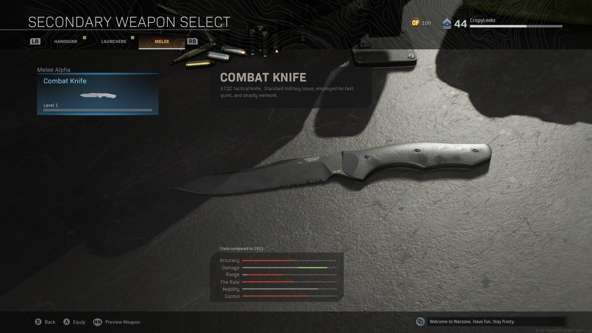 como usar un cuchillo en la zona de guerra
