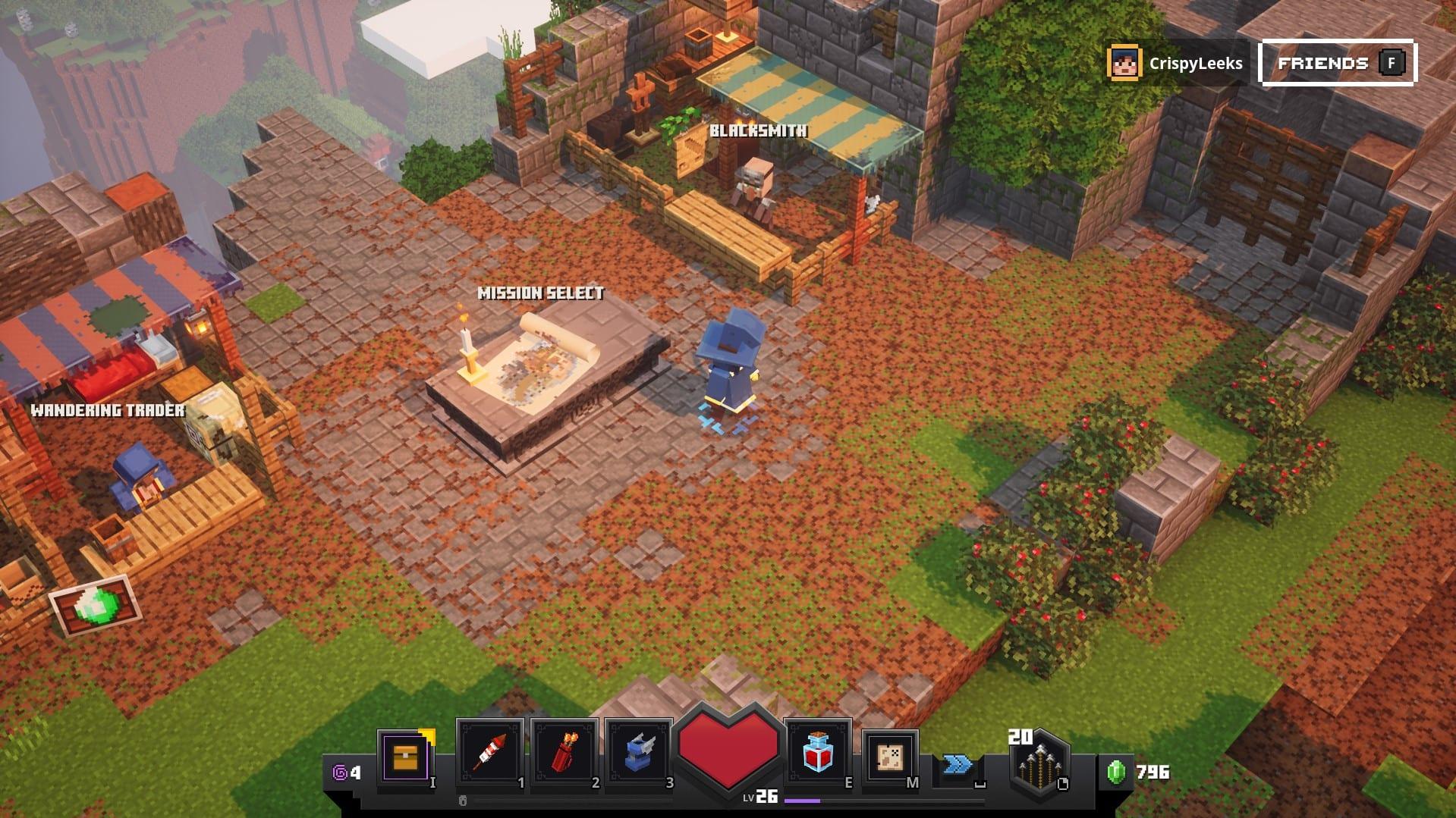 mazmorras esmeralda de minecraft