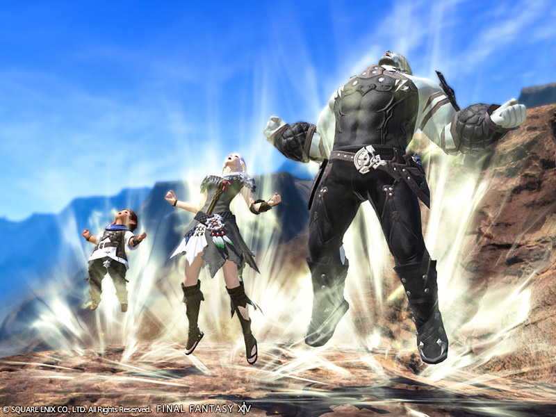 Final Fantasy XIV Power Up Emote