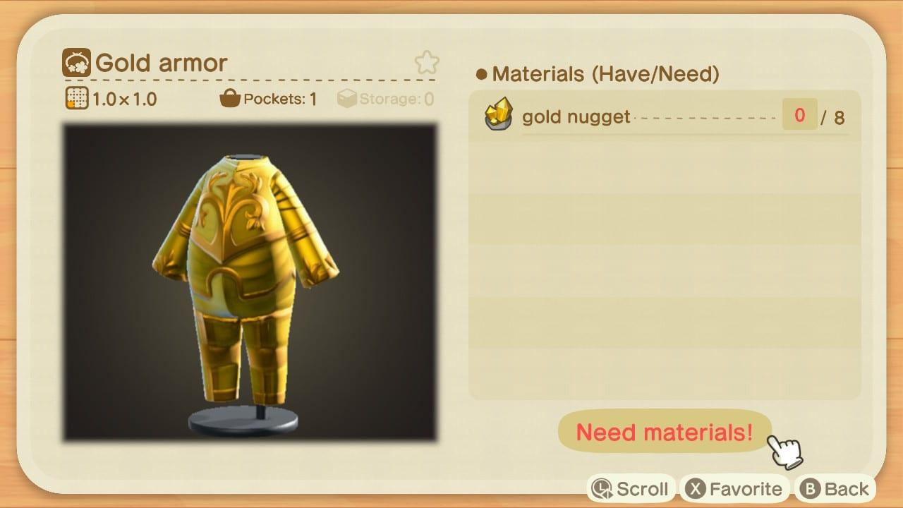 artesanía, armadura de oro