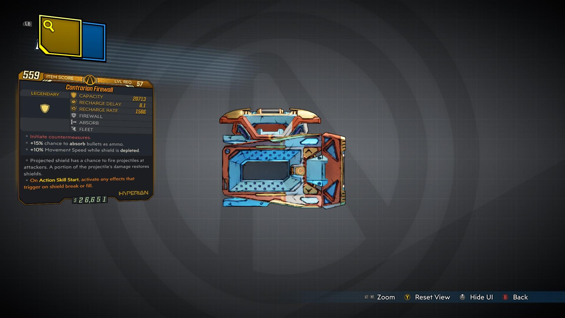 Legendario Firewall Shield Hyperion