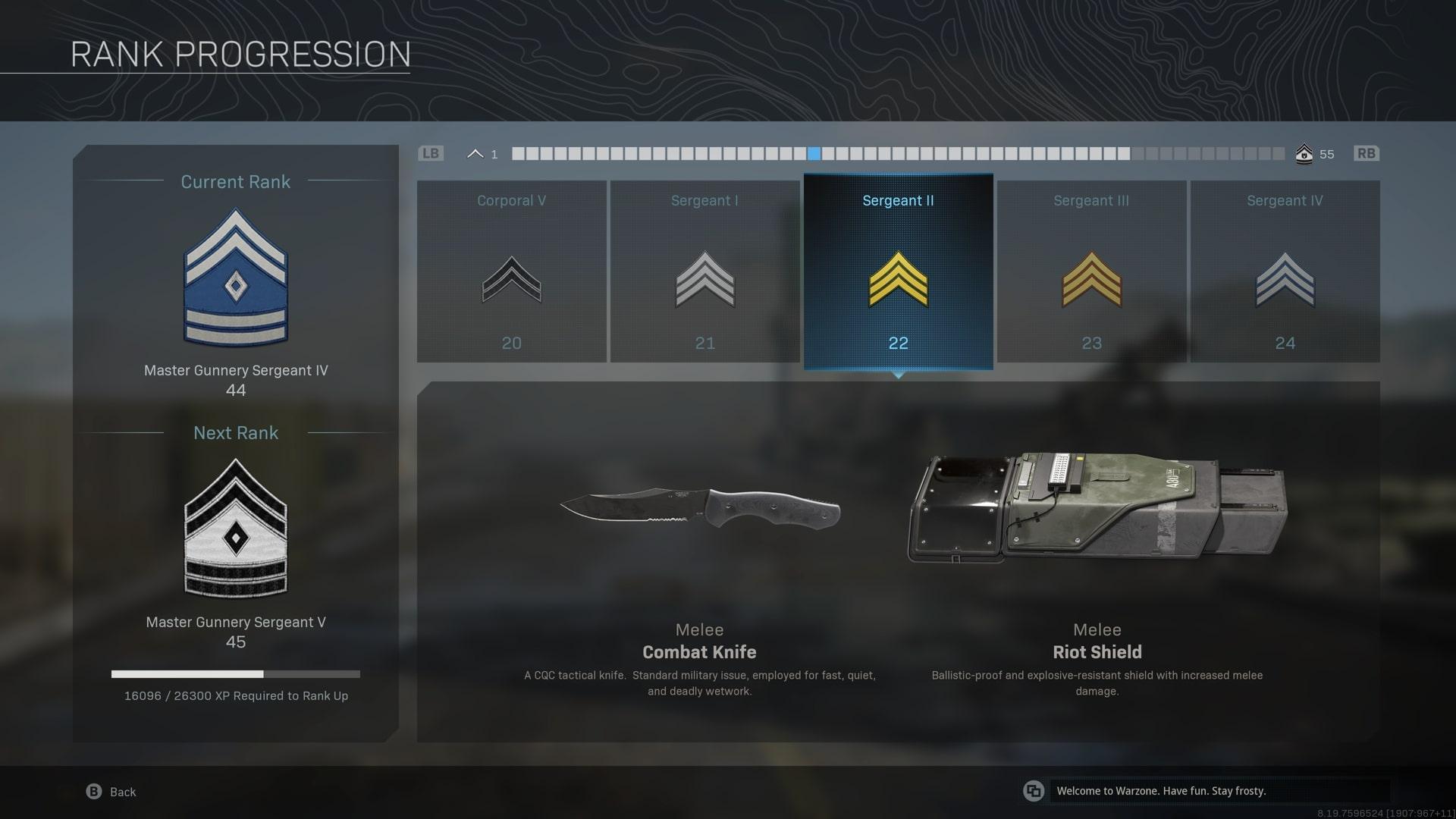Cómo desbloquear un cuchillo de combate en la zona de guerra