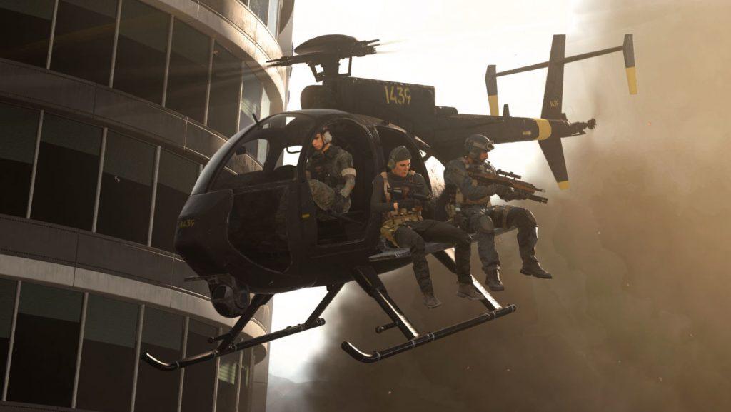 bacalao warzone vehículos heli soldados