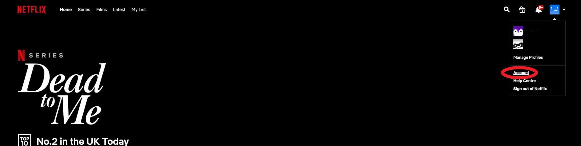 eliminar el historial de visualización de netflix
