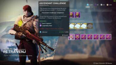 Destiny 2: ubicación del Ascendant Challenge esta semana: del 5 al 11 de mayo de 2020