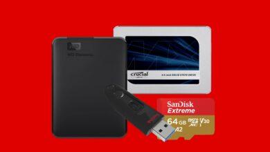 Discos duros externos, SSD y almacenamiento adicional reducidos en MediaMarkt