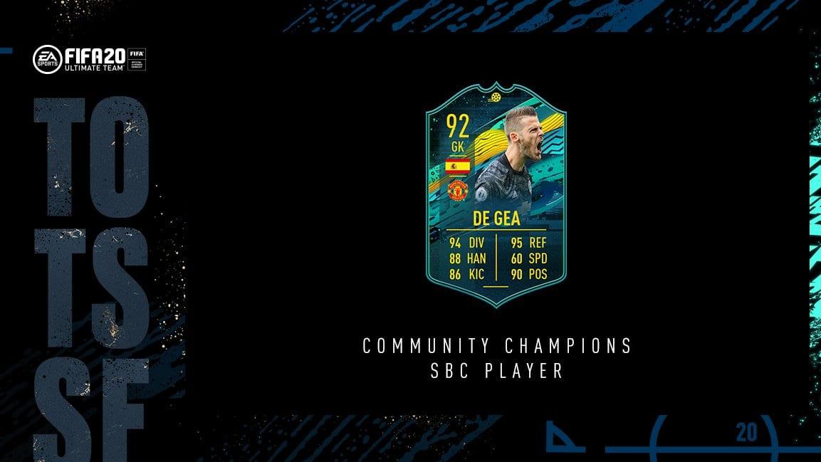 FIFA 20, momentos de gea sbc