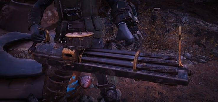 Fallout 76 Mods de pistola Gatling