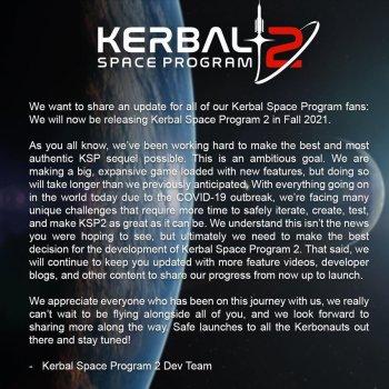 Programa espacial Kerbal 2 retrasado