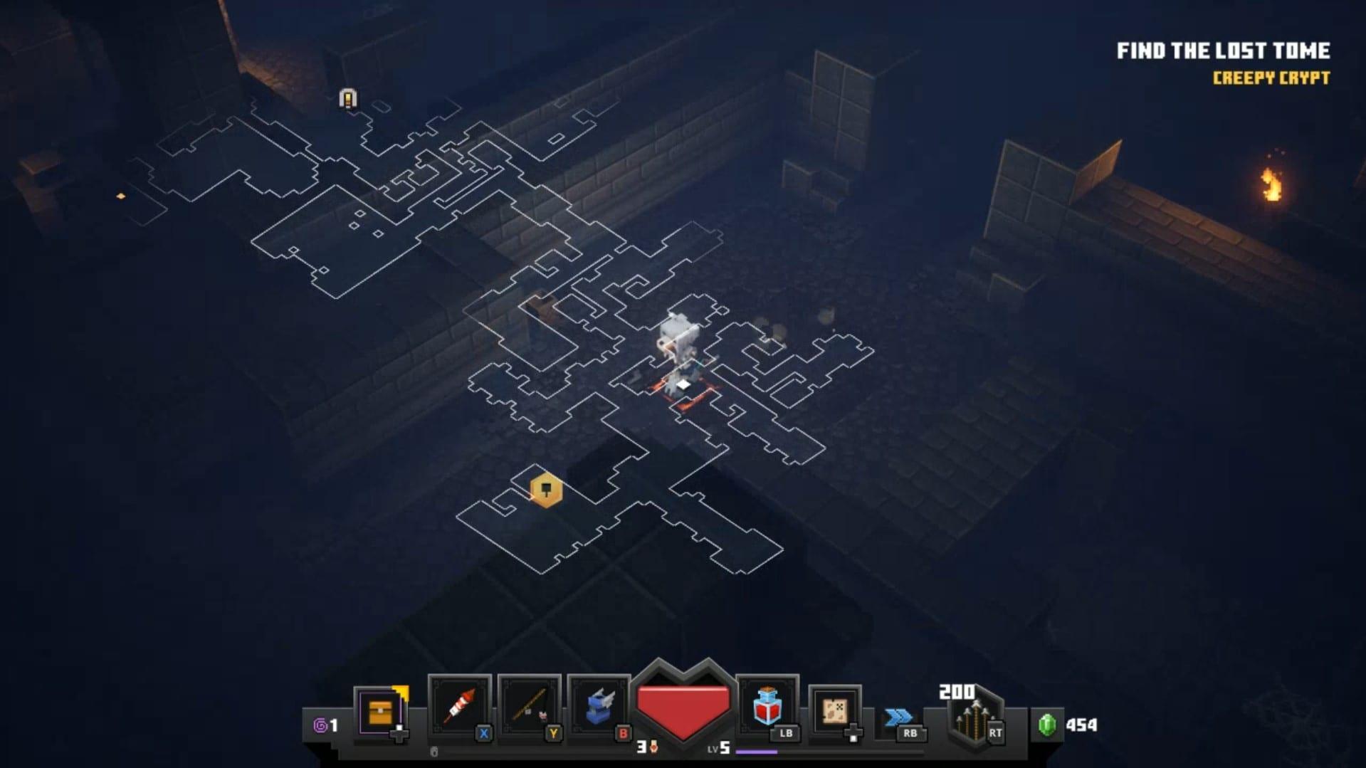 mapa de apertura en mazmorras de minecraft