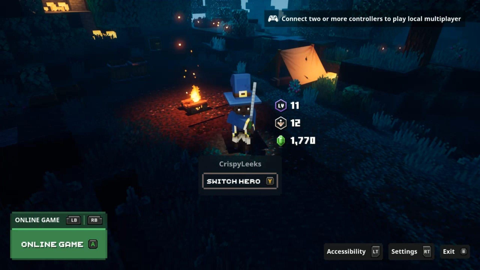 cooperativa en mazmorras de minecraft