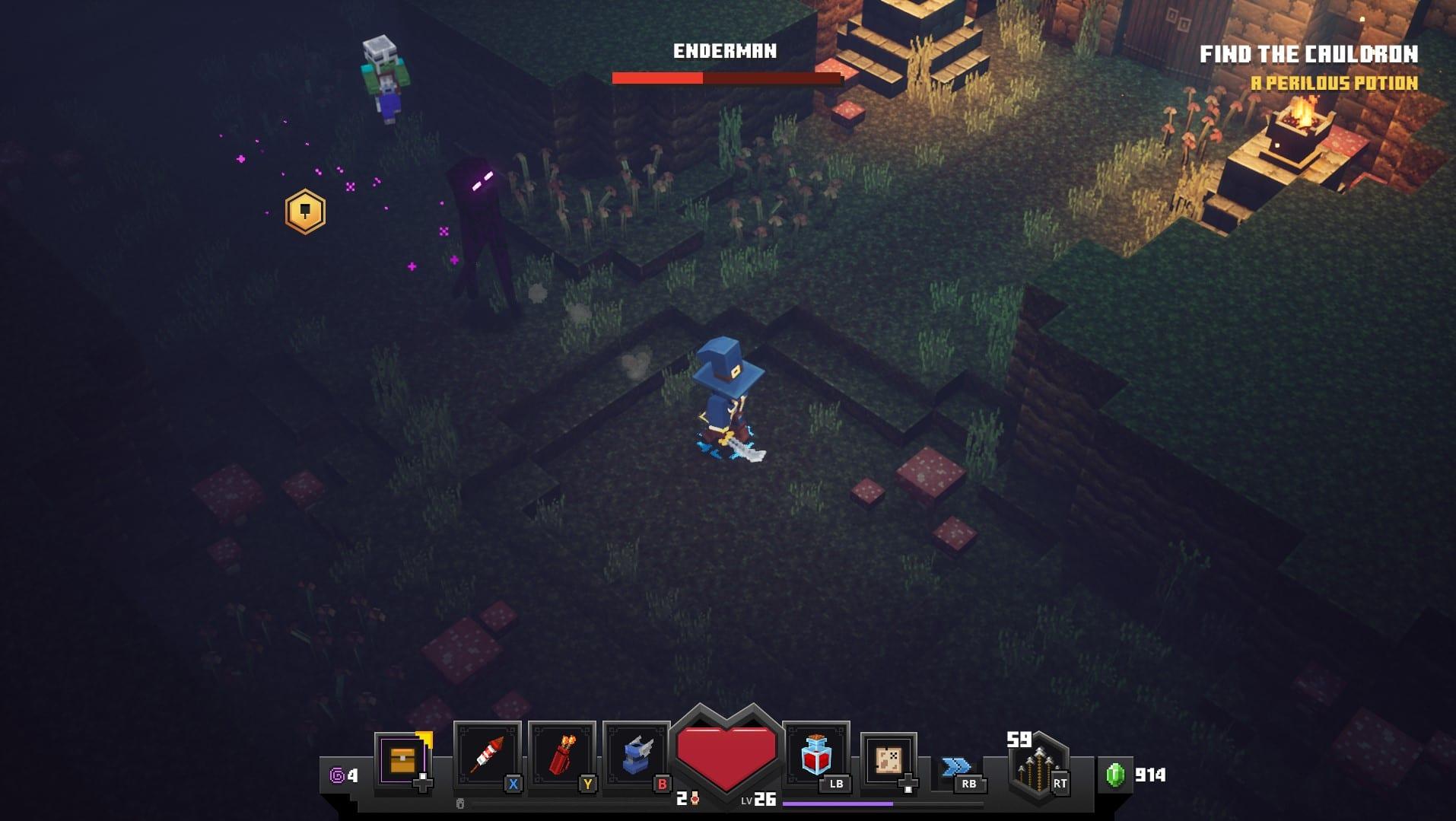 Minecraft mazmorras endermen